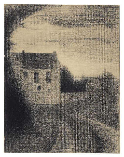 Georges Seurat | Square House, c. 1882-84 | crayon on paper, via Flickr