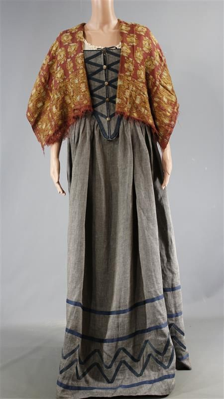 BLACK SAILS MRS HUDSON ANNALOUISE PLOWMAN SCREEN WORN DRESS & SHAWL EP 410