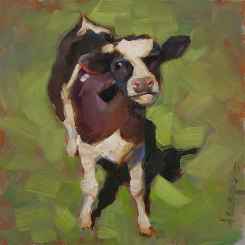 "Daily Paintworks - ""Poser"" - Original Fine Art for Sale - © Dana Cooper"