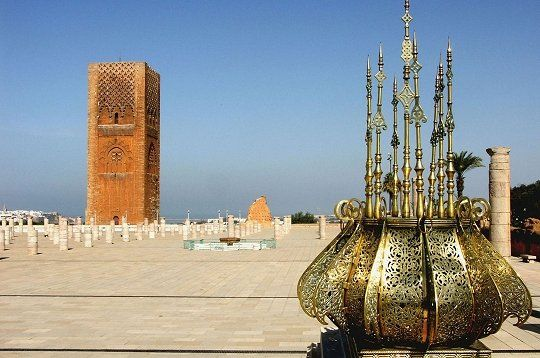 Parvis du mausolée de Mohamed V, Rabat, Maroc