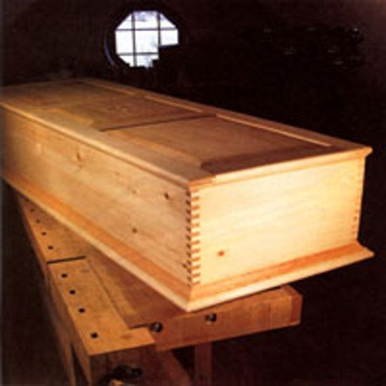 Learn how to build a handmade casket for a green funeral, includes step-by-step instructions, a plywood primer and detailed diagrams in the image gallery. Originally published as