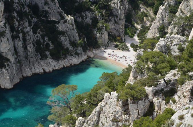 village of Cassis, half-day tour from Aix-en-Provence. Often known as the Saint-Tropez of Provence