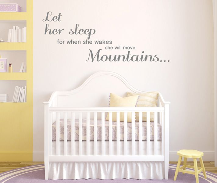 Stickaroo Wall Decals - Let Her Sleep