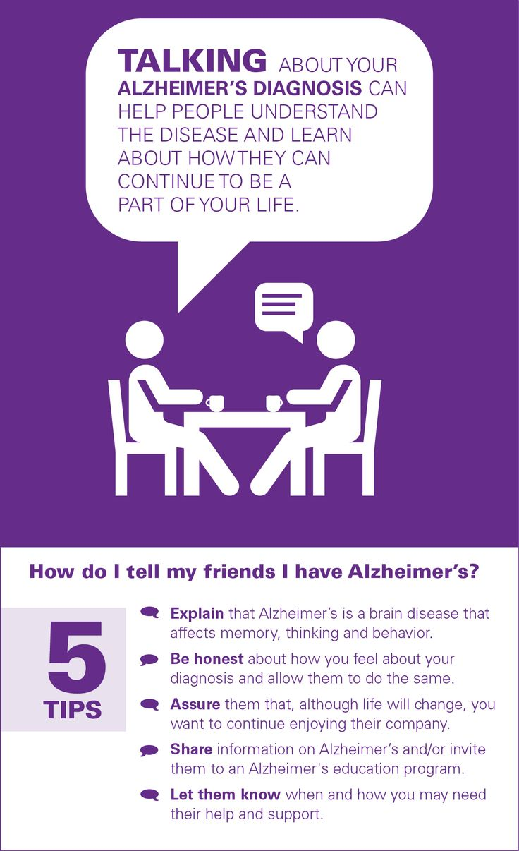 Talking about your Alzheimer's diagnosis can help people understand the disease and learn about how they can continue to be part of your life. Learn more at alz.org