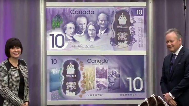 Unveiling of commemorative bank note -  Dévoilement d'un billet de banqu... #Canada150 #BankofCanada