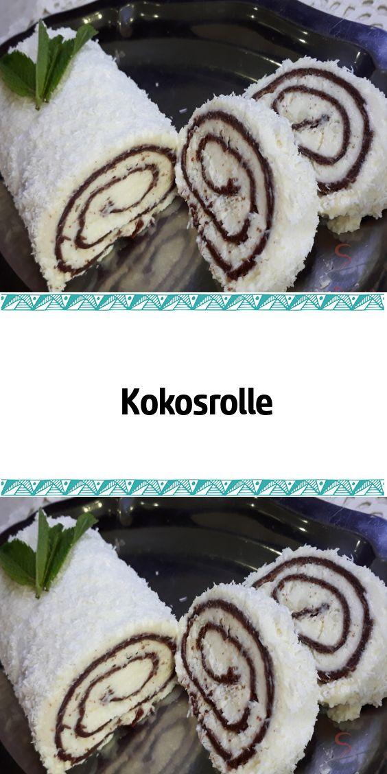 Kokosnuss-Rolle   – Backen