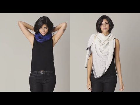 EILEEN FISHER shows you how to tie a scarf. Watch our staff demonstrate and give tips on how to wear this season's scarves. http://www.eileenfisher.com/Eilee...