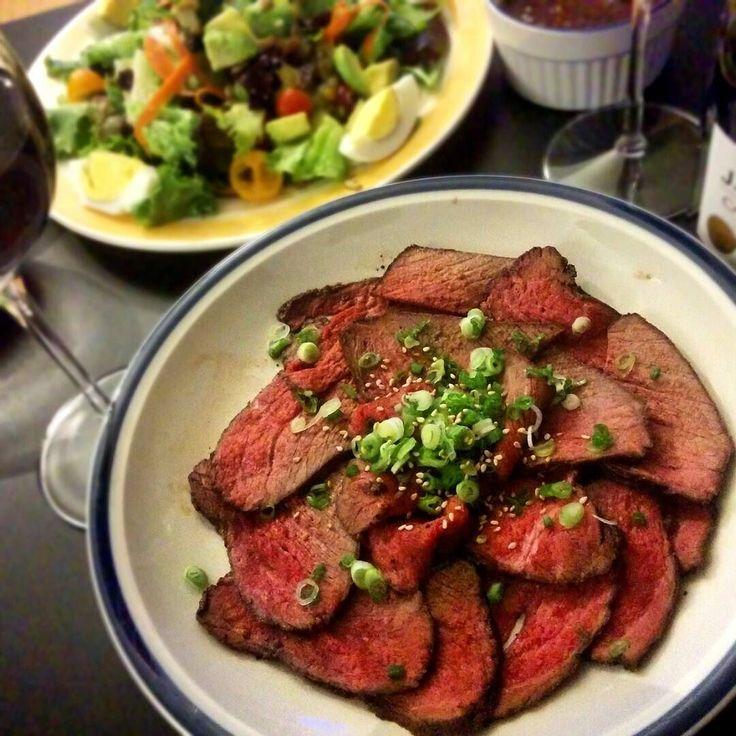 Roasted beef Japanese tataki style  #roastbeef #japanesefood #tataki #cooking #dinner by bob29292929
