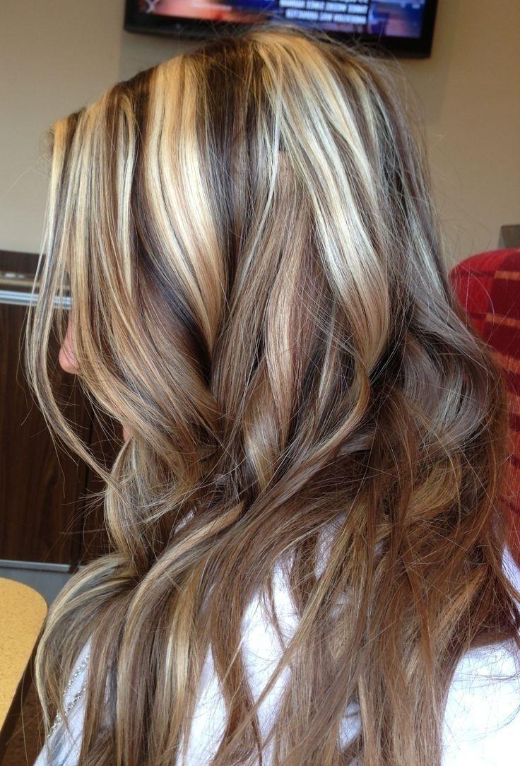 Dunkel Blonde Haare Mit Blonden Highlights Bilder Dark