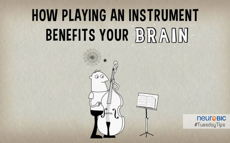When you listen to music, multiple areas of your #brain become engaged and active. But when you actually play an #instrument, that activity becomes more like a full-body brain workout.  #TuesdayTips #BrainOnMusic #BrainHealth