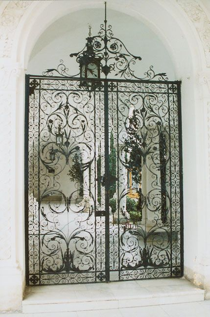 Gates to the courtyard of Livadia Palace