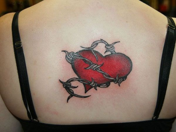 heart 26 Addicted Barb Wire Tattoo Ideas