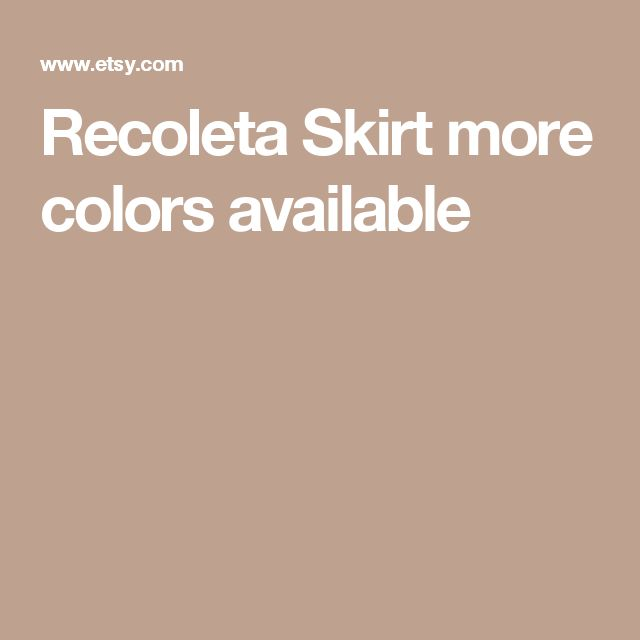 Recoleta Skirt     more colors available