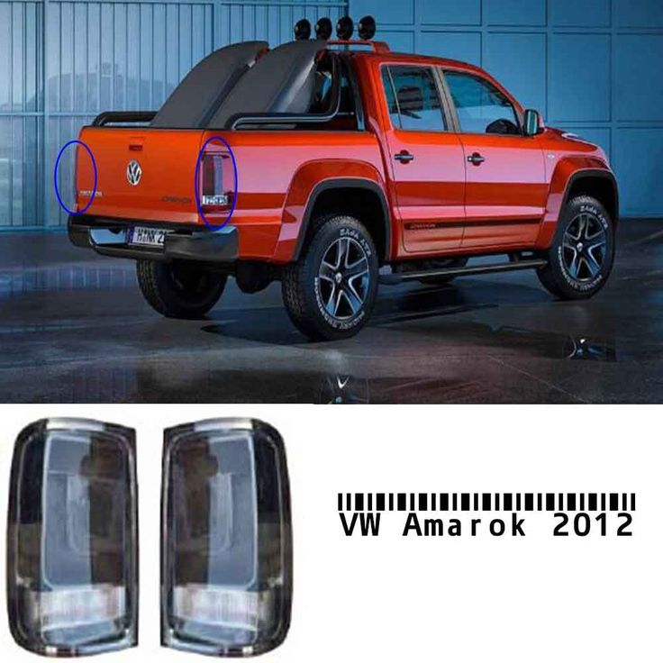 (179.00$)  Watch more here  - For VW Amarok 2012- Smoke Tail Lights Rear Lamps PAIR Left + Right