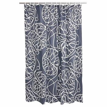 Marimekko Bottna Slate Cotton Shower Curtain   Click To Enlarge