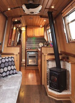 Pin by Jeanettecentaur on Bug Out Vehicle | Canal boat narrowboat, Boat interior, Narrowboat