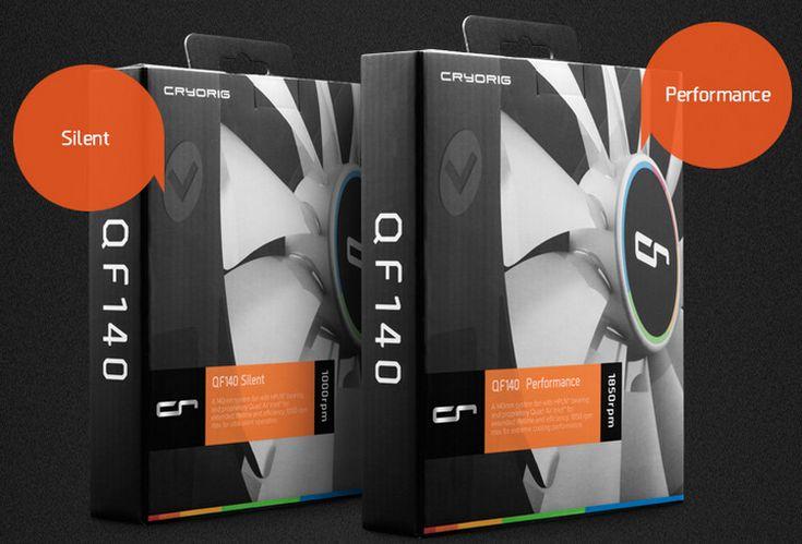 CRYORIG представила новые вентиляторы QF140 Silent и QF140 Pro