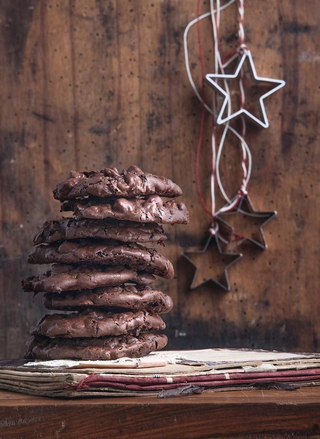 Μπισκότα χωρίς αλεύρι με σοκολάτα και φουντούκια