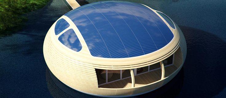 WaterNest: eco-vriendelijk drijvend luux huis - LUUX