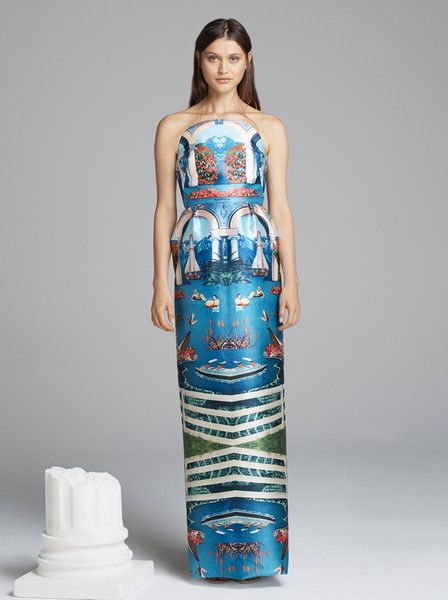 ALICE MCCALL - Souls in Motion Dress - Lake Como Print  $420.00