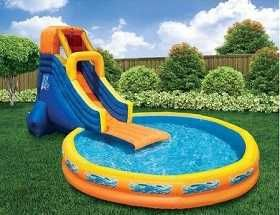 wow inflatable pool slide swimming pool fun games pinterest pool slides and swimming pool slides
