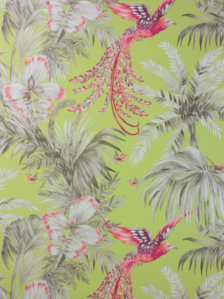 Matthew Williamson Bird of Paradise Wallpaper, Lemon
