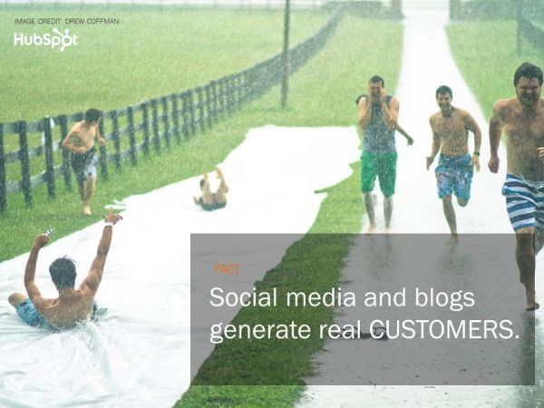 Social media and blogs generate real CUSTOMERS.