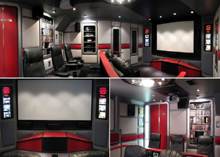 Star Trek man cave/home theater/video game room. (I want mine to be the bridge of The Next Generation)