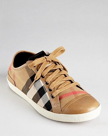 Burberry Sneakers - Vintage House Check | Bloomingdale's