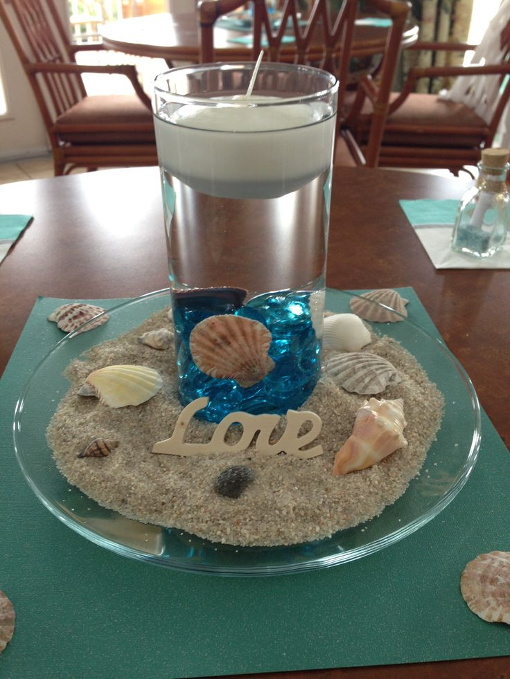 Best beach centerpieces ideas on pinterest