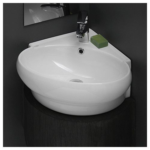 CeraStyle by Nameeks Mini Corner Ceramic Bathroom Sink