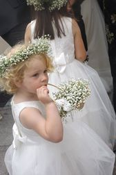 Pretty Flowergirl with Gyp Basket and Crown