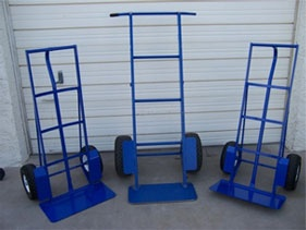 Our heavy duty dollies and hand trucks are in stock ready to make your life easier. Our heavy duty dolly is virtually unbreakable. Moving 600-1200 pounds has never been easier.