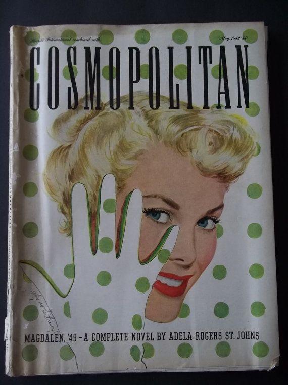 Original Vintage May 1949 Cosmo Cosmopolitan by houseofpatterns, $29.00