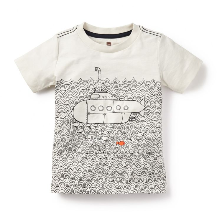 Submerged Graphic Tee for Boys | Tea Collection