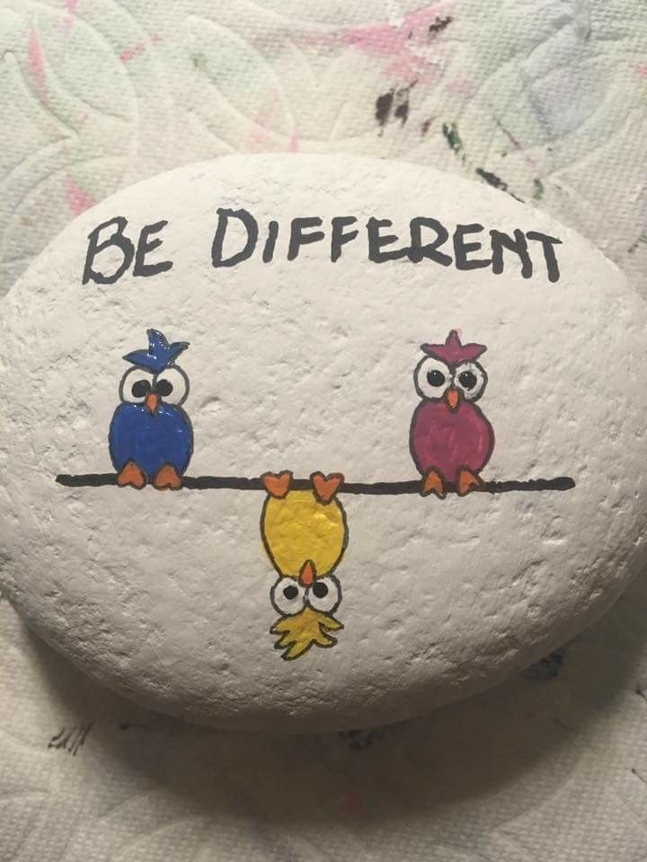 Go out there & be different be yourself!
