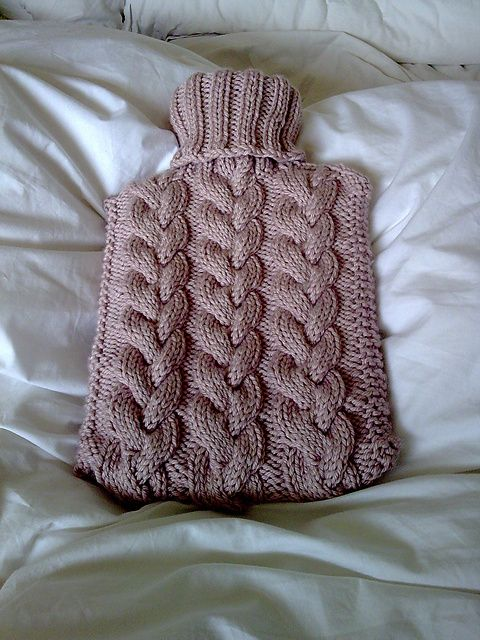 Ravelry: Toasty - Cabled Hot Water Bottle Cover pattern by Arianna Halshaw