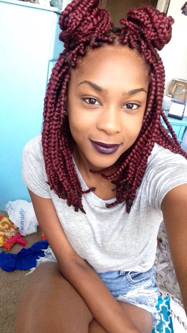 Wondrous 1000 Images About B O X B R A I D S On Pinterest Poetic Short Hairstyles Gunalazisus