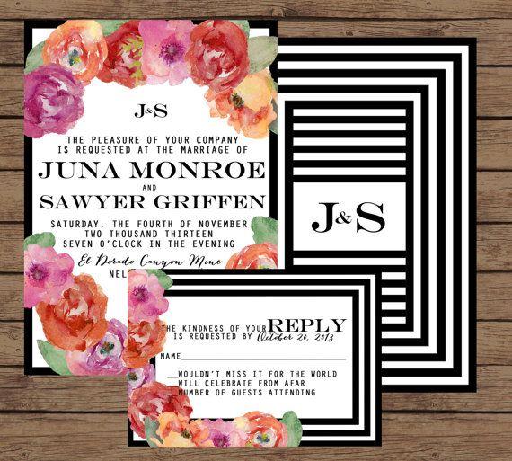 45 best images about wedding invites on pinterest   modern wedding, Wedding invitations