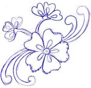 Easy Sketches Of Flowers Bing Images DrawingsArt