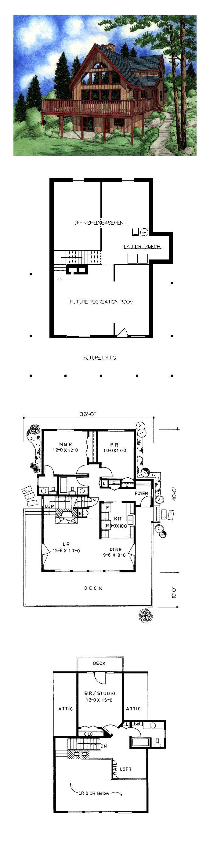 50 best hillside home plans images on pinterest house for Hillside home floor plans