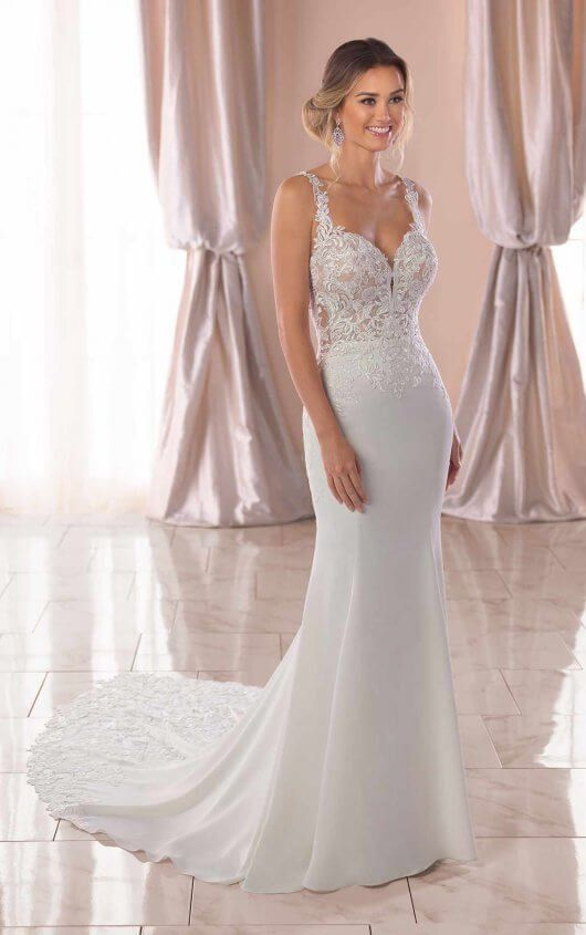 f1588bf8702 Sexy Wedding Dress with Sheer Open Back - Stella York Wedding ...