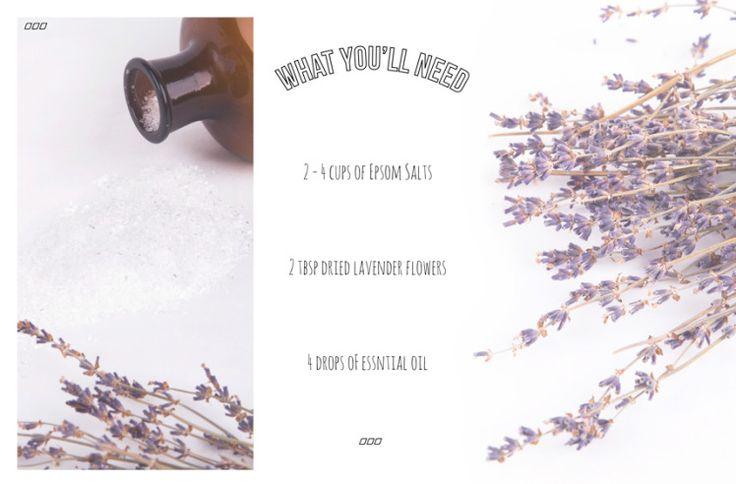DIY Sore Muscle Bath Soak Using Epsom Salts - Move Nourish Believe