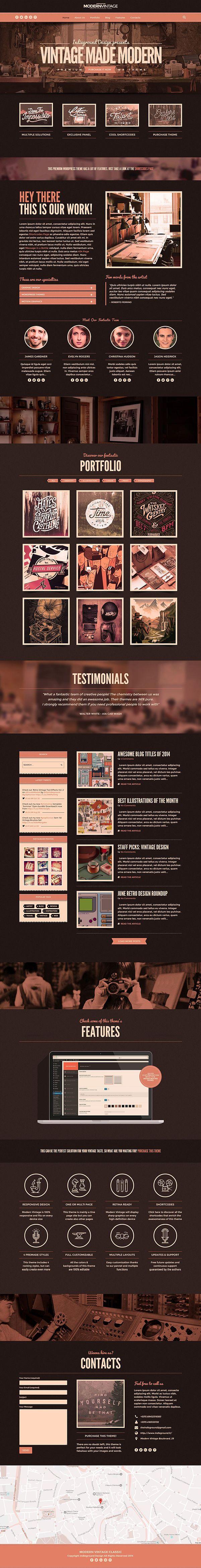 pinterest.com/fra411 #webdesign - Modern Vintage Wordpress Theme on Behance