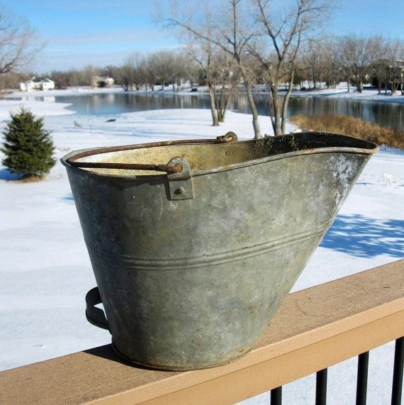 Rustic Copper Pail Pendant Light By Cre8iveconcrete On Etsy: 29 Best Old Coal Buckets Images On Pinterest