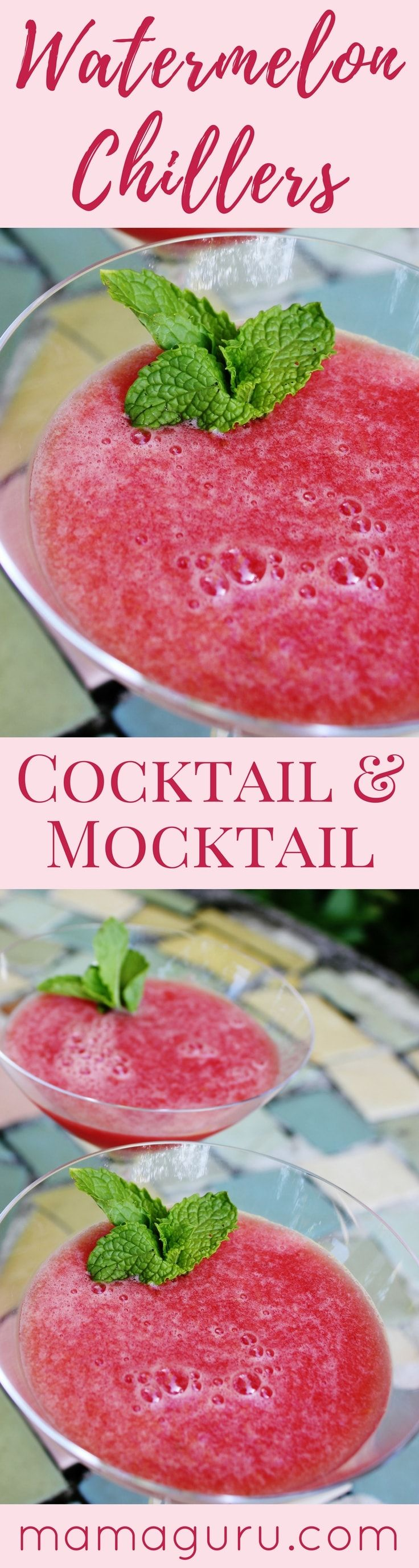 Watermelon Chillers ♥ Cocktail Recipe ♥ Mocktail Recipe ♥ Watermelon Recipe ♥ Kid Friendly Recipe ♥ Summer Recipe