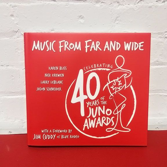 THE JUNO AWARDS Music From Far And Wide Book - Celebrating 40 Years of the JUNO Awards