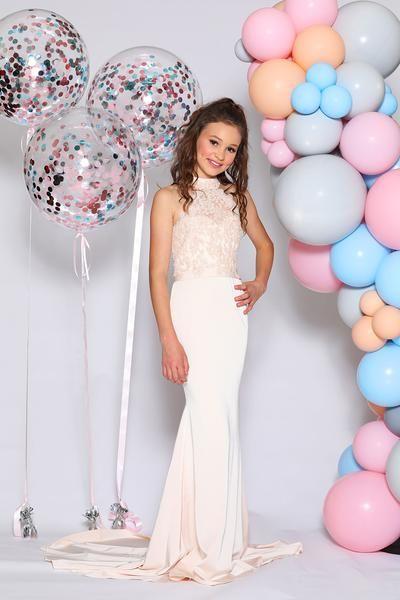 Mermaid Champagne Lace Junior Bridesmaid Dresses