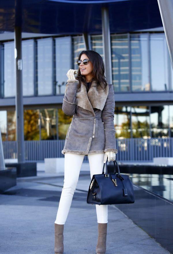 любители с чем носить короткую светлую дубленку фото торговый-офисный