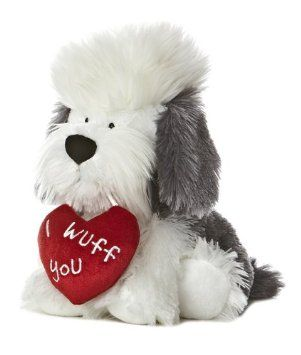 Inexpensive Valentine's Day Gifts For Boyfriend (Under 15 Dollars). 11″ I Wuff You Dog Plush.